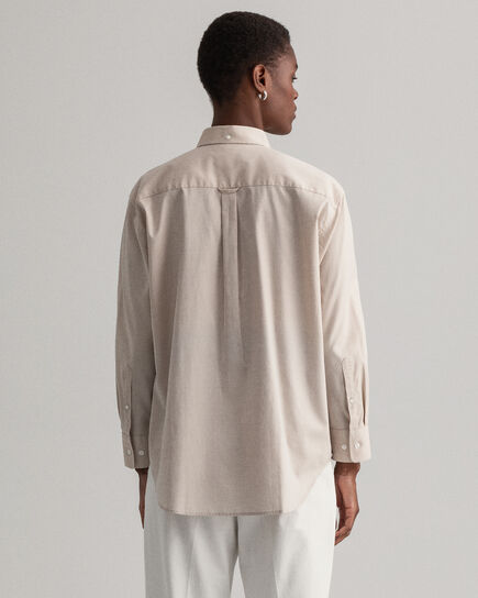 Relaxed fit ‑mitoitettu pinpoint oxford ‑paita
